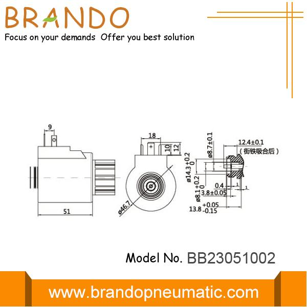 MBF10-60YC solenoid coil dimensions