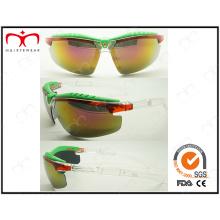Design especial e óculos de sol de plástico colorido brilhante colorido (lx9877)