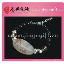 Bracelet Agate Druzy en Agate de Chine fait à la main