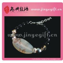 Handmade Chinese Agate Crystal Druzy Agate Bracelet