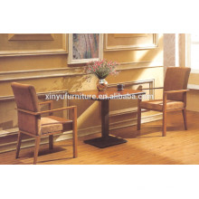 Leisure style coffee table and solid wood backrest chair set XYN924