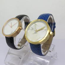 Relógio de quartzo com design simples e mostrador em cerâmica para homem