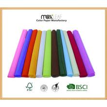Folhas de papel Crepe Paper / Crepe de papel com creme de 50 * 300cmhot Decorativas