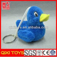 Llavero suave del pato de la felpa del pequeño pato azul llavero lindo del juguete de la felpa
