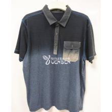 Cotton YD Stripe Dip-Dye With Oxford Collar Shirt