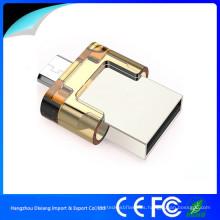 USB 2.0 OTG USB Flash Drive con Push-Pull Cap para Smartphone