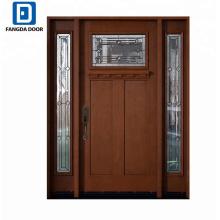 Holz-Korngrp-Fiberglas Außentür-Eingangstürdesign Fangda-Qualitäts