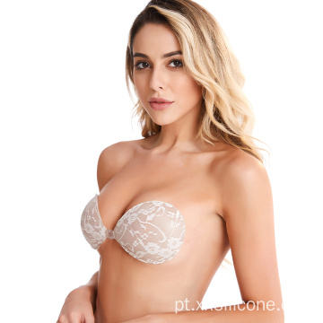 Sexy Hot Lady Push-Up Magia invisível sutiã de renda