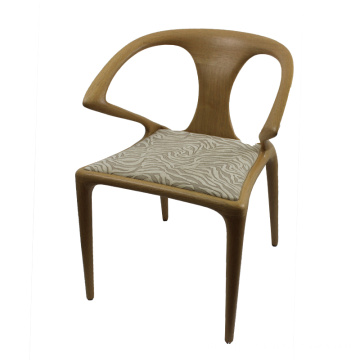 chaise de salle à manger contemporaine marron