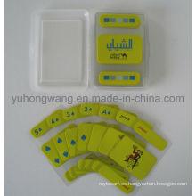 Tarjeta de juego de cartas de PVC transparente, juego de mesa