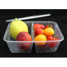 Récipient à aliments à micro-ondes en plastique à double grille