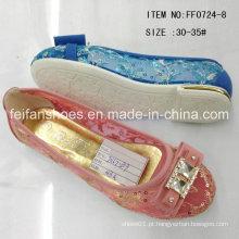 Moda Sapatos menina sapatos princesa único sapatos chinelo (ff0724-8)