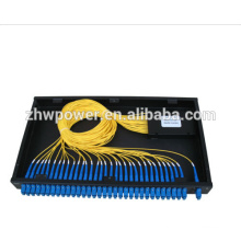 1x32 Fibra Óptica Splitter com 19 'Rackmount, PLC Splitter Módulo SM, inserido SC pigtail fibra plc divisor