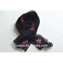 New fashion ladies animal bordado lenço 015