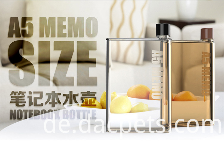 430ml Fashion A5 Memo Notebook Plastic Pc Water Bottle Dc A5memo