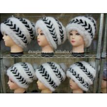 2015 Hot Sale Lady Mink Fur Cap For Winter/Warm Mink Fur Caps