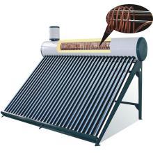 calentador de agua solar presurizado con bobina de cobre