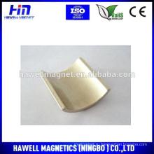 Неодимовый магнит дугообразной формы для применения моторного генератора (ROHS)