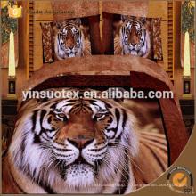 Drap de tigre print 3d bed bed, quilt ana, 3d bas prix ensembles de literie