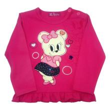 Senhorita Rato Menina T-Shirt para Spring in Children`s Clothes