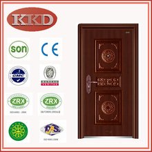 Standard Size Steel Security Door KKD-504 with Luxury Design for Residential Use
