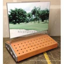 Special Designed Outdoor Sporting Equipment Freistehende Adveritising Metal Wood Golf Club Rack