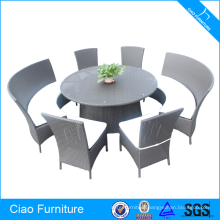 Leisure Lifestyle Rattan Round Dining Table Set Garden Furniture