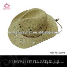 Chapéus de cowboy de chapéu duro / chapéu de cowboy de palha