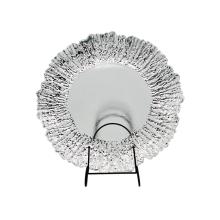 Glasladeplatte mit Folie Silber