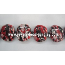 25x30mm Beautiful square Hand-painted Ceramic beads