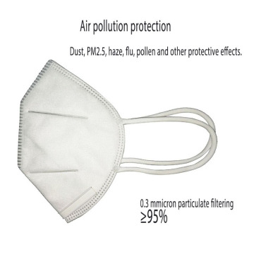 Masque facial jetable KN95 de respirateur pliant médical