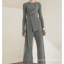 PK18ST093 tunic cashmere sweater fashion suit for woman