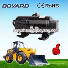 R134a brushless dc 12v refrigeration ac compressor for mobile crane solar powered air conditioner