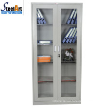 Lastest design office used glass door steel document cabinet