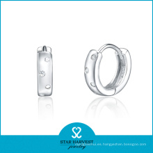 2015 Best Sale Hoop Earrings Pendiente fino de circonio cúbico (E-0102)