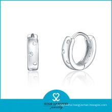2015 Best Sale Hoop Earrings Cubic Zirconia Fine Earring (E-0102)