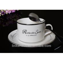 Haonai Superior quality ceramic coffee sets, Bone china coffee set