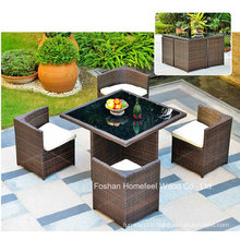 New 5 Pieces Outdoor Rattan Garden Dining Set (OT10)