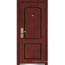 Porta blindada de madeira de aço (YF-G9020)