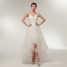 Alibaba V Neck Backless short front long back Wedding Dresses Bridal Gown