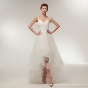 Alibaba V cuello sin espalda corta espalda larga espalda vestidos de novia vestido de novia