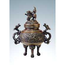 Eastern Carving Statue Kylin Censer Bronze Sculpture Tpxl-001