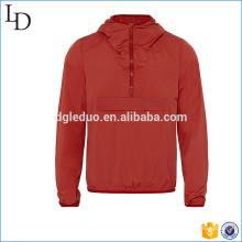 Material suave hombres chaqueta de fitness de alta calidad con capucha chaqueta de moda