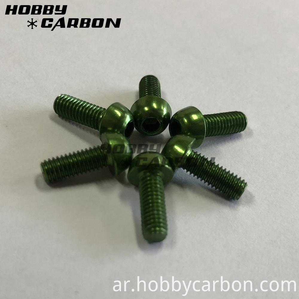 Green M3 Screws