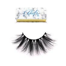 DL033 Hitomi custom eyelash packaging individual glitter eyelash/ silk eyelash double layer private label 25mm silk eyelashes