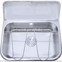 Stainless Steel Bucket Sink Mop Sink, Commercial Cleaner Sink for Public Sanitation