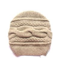 100% кашемир Большой кабель Hat ручной вязки
