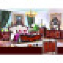 Móveis para casa com cama king size e guarda-roupa e armário (W811B)