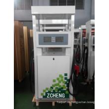 Zcheng Color Verde Dispensador de combustible Estación de gasolina Doble bomba