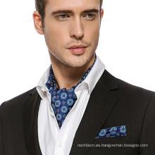Moda para hombre Paisley alta calidad de seda de impresión de corbata corbata Ascot